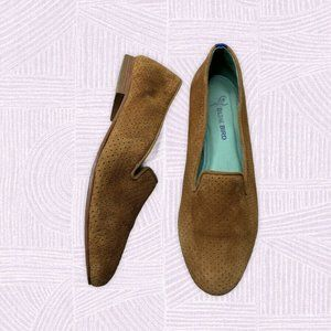 Blue Bird Tan Suede Loafers Size 7 Mustard Casual
